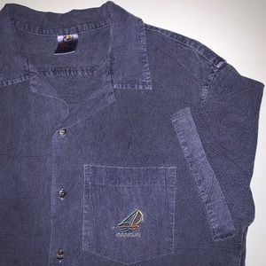 🏝 Vintage Cancun Mexico acid wash shirt GUC